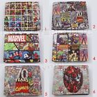 Super Hero Cartoon Avengers Heroes Colorful PU Leather Short Purse Wallet