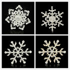 Mix style Snowflake clear rhinestone crystal Christmas decor gift brooch pin image