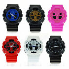 Unisex Colorful Shock Absorb Sport Analog and Digital Wrist Watch