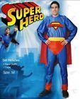 Mens Super Hero w/ Cape Adult Superhero Fancy Dress