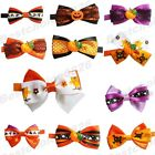 1pc Cute Halloween Pet Gift Cat Dog Neck Bowties Puppy Grooming Collar Bow ties