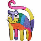 Rainbow Cat Embroidered Iron / Sew On Patch Jacket T Shirt Bag Dress Jeans Badge