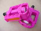 """Pink 9/16"""" Pedals for Childrens bike with a 3 peice crank Junior Girls kids"""