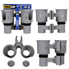 ROBOCUP CLAMP ON HOLDER FOR DRINK, CUP, BOAT, FISHING ROD, POLES. GOLF CART CLUB