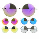 SA106 Retro Hippie Reflective Color Mirror Circle Len Round Sunglasses