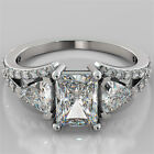 2.68Ct Radiant Cut Engagement Ring 14K White Gold With Optional Matching Band