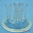 24/40,100mm,Glass Reactor Lid,DN100,Four Necks,Lab Chemistry Glassware