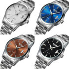 Luxury Mens Stainless Steel Band Date Analog Quartz Sports Wrist Watch