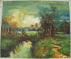 "COUNTRY OIL PAINTING ART ROLLED OR STRETCHED 20X24"" 30 DIFFERENT REF4"
