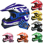 LEO-X17 CUB Child Junior Kids Motorbike Scooter Motocross Helmet Goggles Gloves