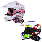 LEO-X18 Child Kids Junior Motorcross Motocross MX Helmet + Goggle + Gloves QUAD