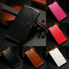 Leather Magnetic Flip Card Wallet Photo Card Case Cover For Various Mobile Phone