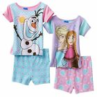 Disney's girls Frozen Elsa Anna Olaf Pajama shorts Set  toddlers size 2T, 4T NEW