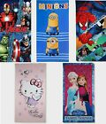 KIDS CHARACTER TOWELS HELLO KITTY AVENGERS SPIDERMAN MINIONS FROZEN FREE P&P NEW