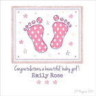 Quality Personalised Congratulations on Your New Baby Girl Boy Card Grandparents