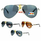 SA106 Anti Glare Polarized Lens Metal Chain Arm Aviator Sunglasses