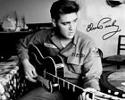 Elvis Presley Signed 8x10 Photo B/W US Army Guitar Reprint Autographed RP
