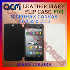 ACM-LEATHER DIARY FOLIO FLIP FLAP CASE for MICROMAX CANVAS XPRESS 2 E313 COVER
