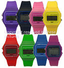 80s Classic Design Silicon Rubber Digital LCD Day Date Alarm Light Unisex Watch
