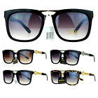 SA106 Mens Medusa Coin Emblem Mobster Rectangular Luxury Fashion Sunglasses
