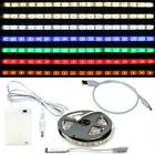 LED RGB Streifen Strip Leiste 5V DC-Stecker + USB-Kabel + Batteriebox