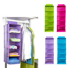 Clothes Folding Organizer 5 Layer Hanging Wardrobe Storage Bag Household