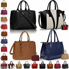 Women's Ladies Designer Faux Leather Celebrity Style Tote Bag Shoulder Handbag