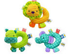 Taggies cute colorful animal elephant lion hippo round baby toy rattle gift 1pc