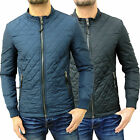 Mens Designer Gnious Slim Fitted Windbreaker Jacket Quilted Smart Coat Top Pax