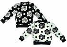 Girls Floral Rose Long Sleeve Bold Flower Fashion Top 4 to 14 Years NEW