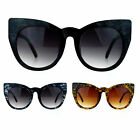 SA106 Womens Oversize Round Cat Eye Tip Comic Casual Diva Runway Sunglasses