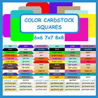 50 Color Cardstock Squares Blank Plain Unruled Card Stock Cards Square / Rounded