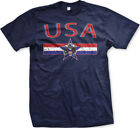USA Distressed Flag Banner American Pride Star Seal Crest Patriotic Mens T-Shirt