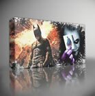 BATMAN VS JOKER FILM - PREMIUM GICLEE CANVAS ART Choose your size