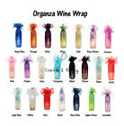 "(6-pcs) 27"" Organza Wine Bottle Gift Wrapping Favor Party Bag W- Cord Tie"