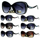 VG Eyewear Shooting Star Rhinestone Bling Iced Oversize Butterfly Sunglasses