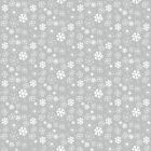 CHRISTMAS XMAS SNOWY GREY WIPE CLEAN OILCLOTH  PVC TABLECLOTH CO click for sizes