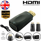 HDMI Male to VGA Female 1080p Video Converter Adapter With 3.5mm Audio Cable