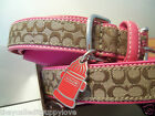 NEW COACH RED FIRE HYDRANT PINK LEATHER EXTRA SMALL DOG COLLAR XS