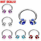 """Horseshoe Ear Expander 5 Colours """"Five Zirconia"""" new PIERCINGS by COOLBODY"""