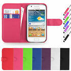 Flip Book Wallet Leather Case Cover For Samsung Galaxy Ace 4 SM-G357FZ Phone