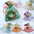 10/100x Organza Favor Christmas Tree Candy Gift Bag Box Pouch Jewelry Decoration