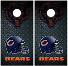 Chicago Bears Diamond Plate Cornhole Board Decal Wrap Wraps