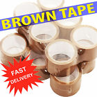 BIG Rolls Of BROWN STRONG Parcel Tape Packing sellotape Packaging 48mm x 66m