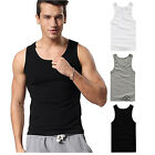 5PCS Men Cotton Stretch Tank Top Muscle Gym Sleeveless Tee Fitness T-shirt