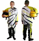 Kids CHILDRENS Motocross KIT Shirt & Trousers Race Quad OFF Road Suzuki YELLOW