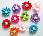Cute Handmade Flower Pet Small Dog Hair bows Rubber bands Grooming Accessories