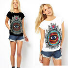 Free Size Sexy Women Trendy Casual Crewneck Blouse Tops Short Sleeve T-Shirt WIN