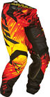 Fly Racing 2015 Kinetic Glitch MX ATV BMX Pants Red/Blk/Ylw 18-42