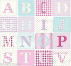 ABC PINK WIPE CLEAN PVC OILCLOTH LAMINATED TABLECLOTH CO click for sizes